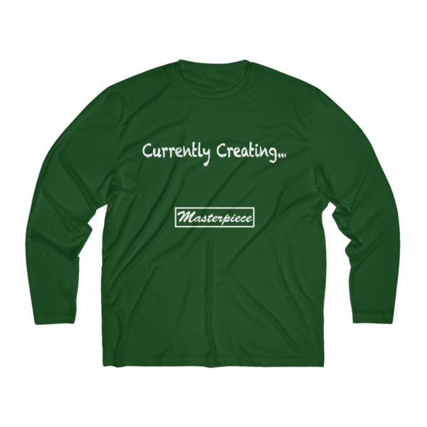 Currently Creating a Masterpiece (Men's Long Sleeve Moisture Absorbing Tee) 2
