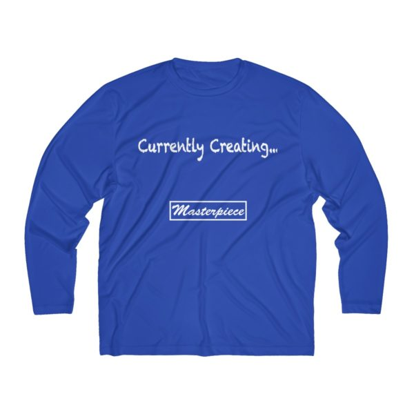 Currently Creating a Masterpiece (Men's Long Sleeve Moisture Absorbing Tee) 3