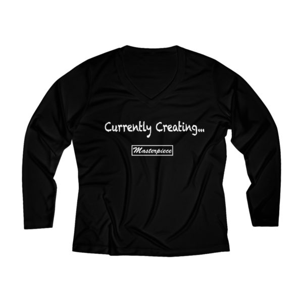 Currently Creating a Masterpiece (Long Sleeve Performance V-neck Tee) 3