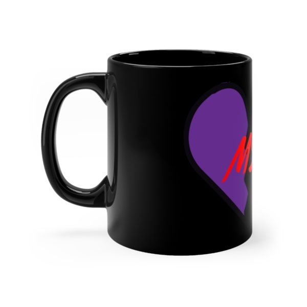 """Master's Heart"" on Black mug 3"