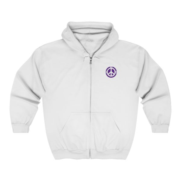 MSTR Ya Peace Unisex Zip Up Hoodie (Embroidered) 2