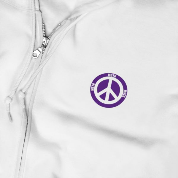 MSTR Ya Peace Unisex Zip Up Hoodie (Embroidered) 4