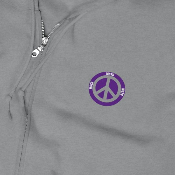 MSTR Ya Peace Unisex Zip Up Hoodie (Embroidered) 9