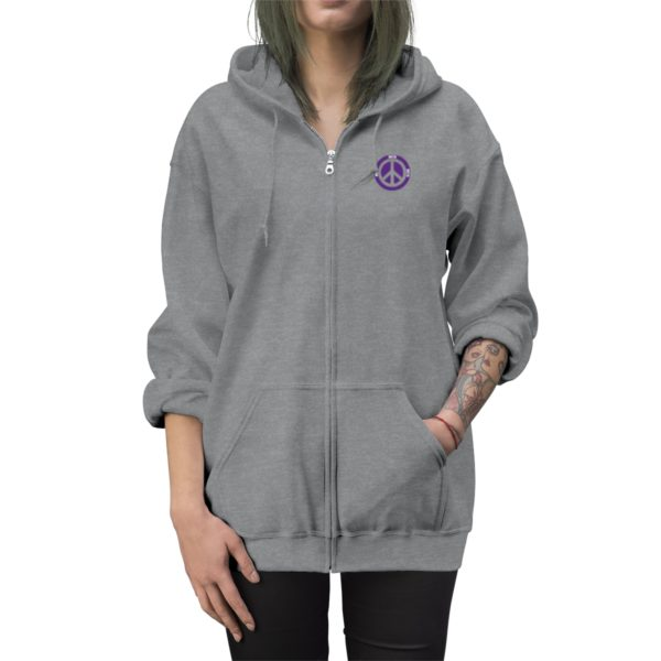 MSTR Ya Peace Unisex Zip Up Hoodie (Embroidered) 10