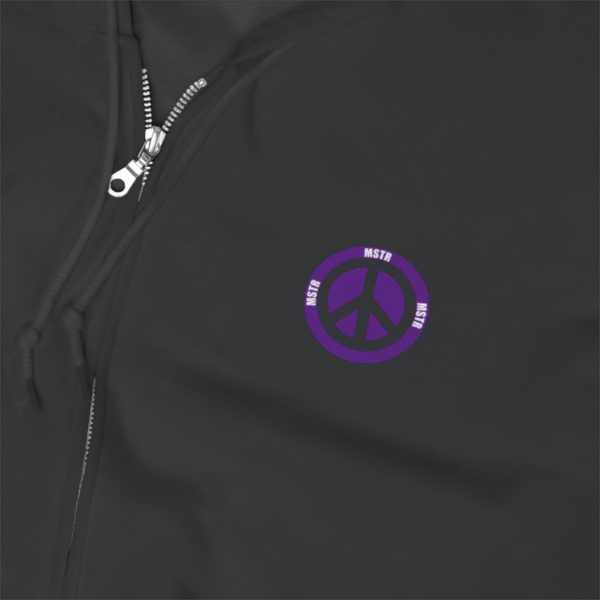 MSTR Ya Peace Unisex Zip Up Hoodie (Embroidered) 15