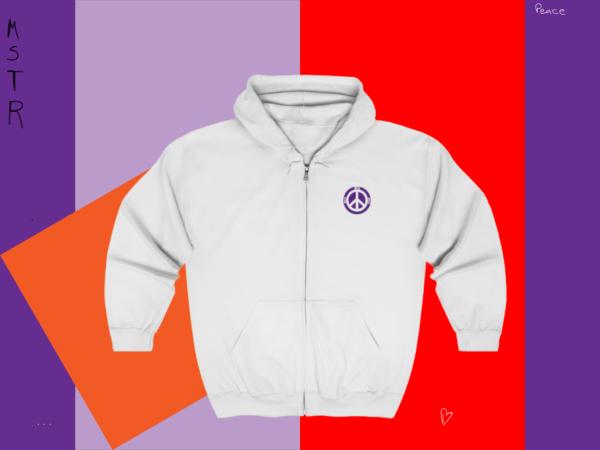 MSTR Ya Peace Unisex Zip Up Hoodie (Embroidered) 1