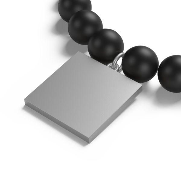 MSTR Peace Matte Onyx Bracelet 6