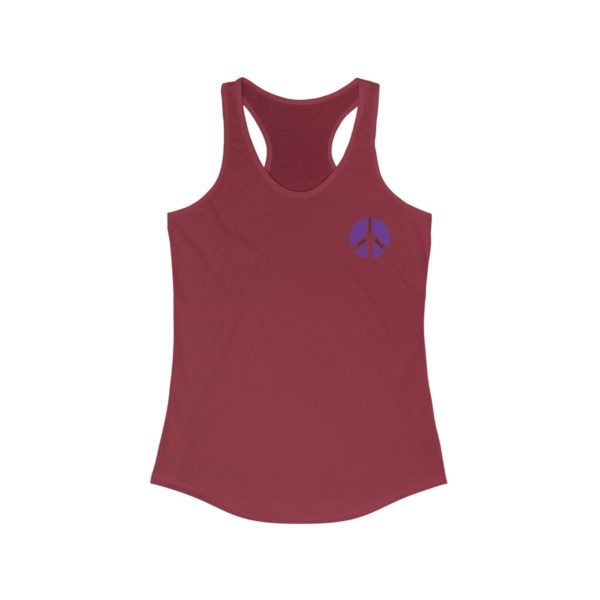 """Master Some Peace"" Women's Racerback Tank 5"