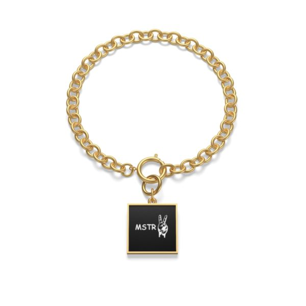 Chunky Chain MSTR Peace Bracelet 1