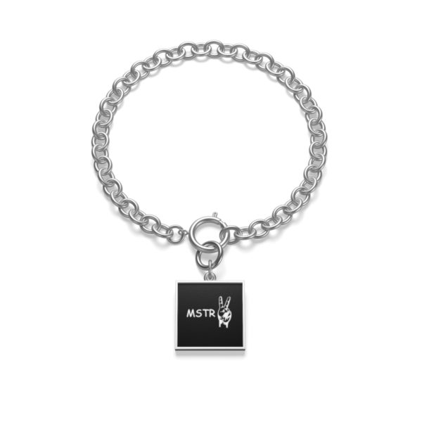 Chunky Chain MSTR Peace Bracelet 10