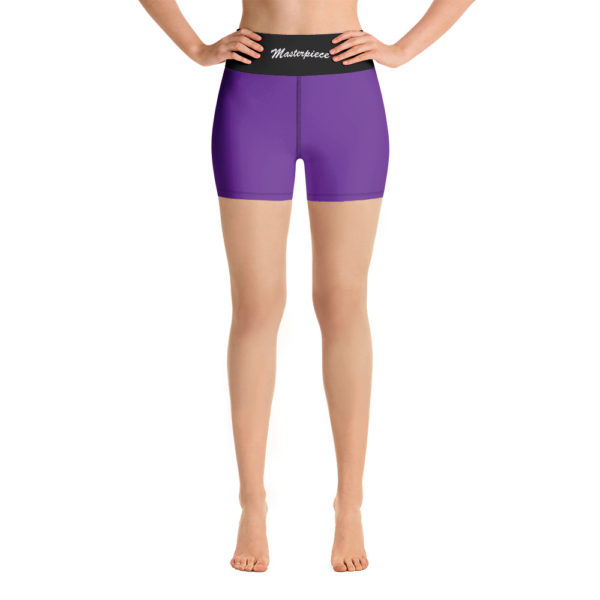 Purple Masterpiece Yoga Shorts 1