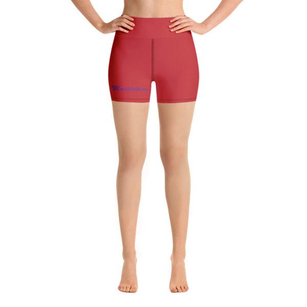 Masterpiece Yoga Shorts (Red) 1