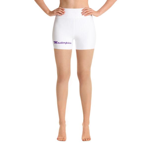 Masterpiece Yoga Shorts (White) 1