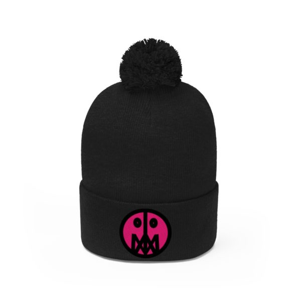 Pink MSTR Face on Pom Pom Beanie 18