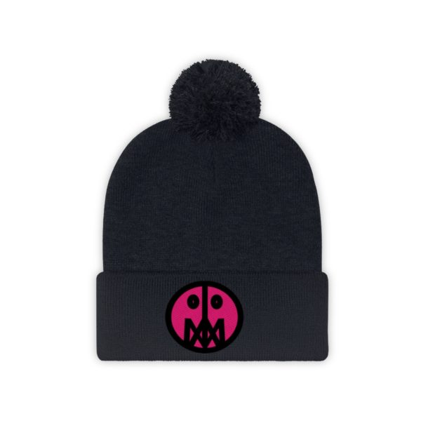 Pink MSTR Face on Pom Pom Beanie 21