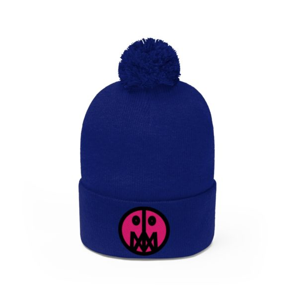 Pink MSTR Face on Pom Pom Beanie 26