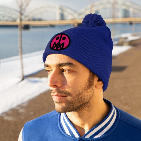 Pink MSTR Face on Pom Pom Beanie 28