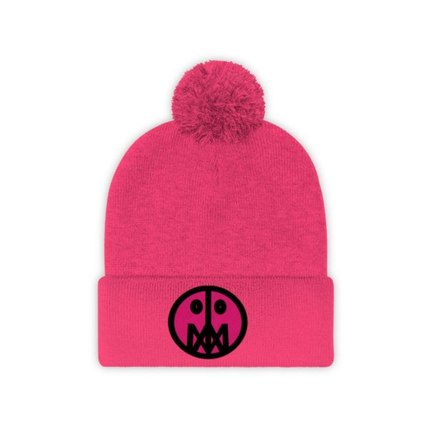 Pink MSTR Face on Pom Pom Beanie 29