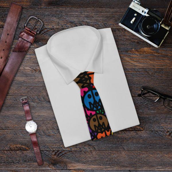 Necktie W/ MSTR Faces 4