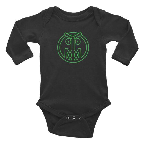 Infant Long Sleeve Bodysuit W/ Mad Master (green) 1